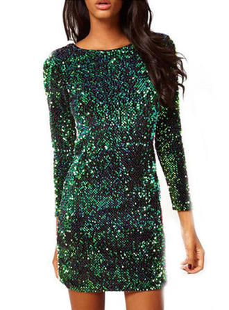 Sequins With Sequins Mini Dress