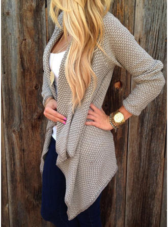 Cotton Blends Plain Cardigan