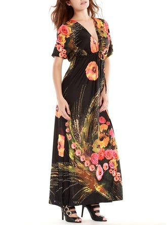 Print A-line Dresses
