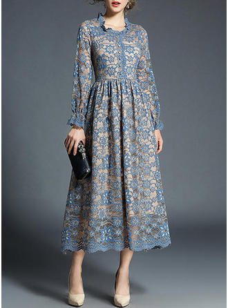 Lace With Lace Midi Dress