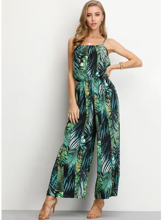 Print Sleeveless Maxi Casual Dresses
