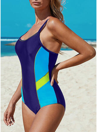 Stripe Strap U-Neck Sexy Sports One-piece Swimsuits