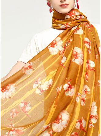Floral/Tassel Neck/Light Weight/Oversized/Shawls/attractive Scarf