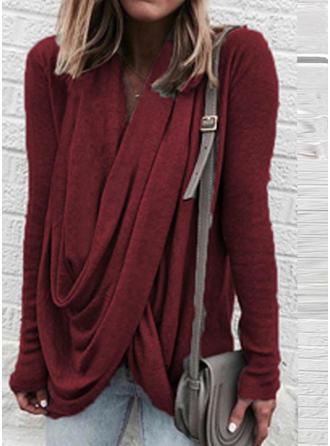 Plain V-neck Sweaters