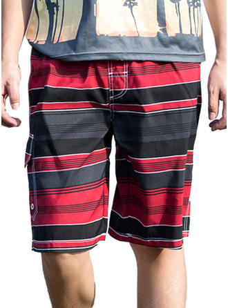 Men's Stripe Board Shorts Swimsuit