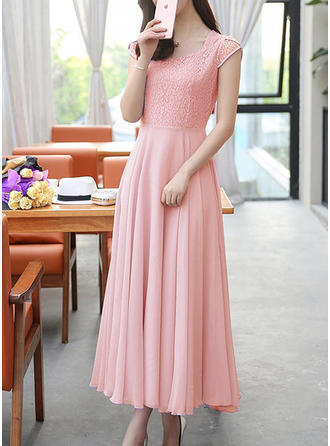 Lace Sweetheart Midi A-line Dress