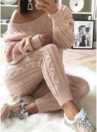 Einfarbig Übergröße Lässige Kleidung Einfach Jahrgang Anzüge