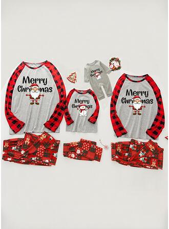 Święty Mikołaj Kratę List Wydrukować Rodzinne Dopasowanie Świąteczne piżamy
