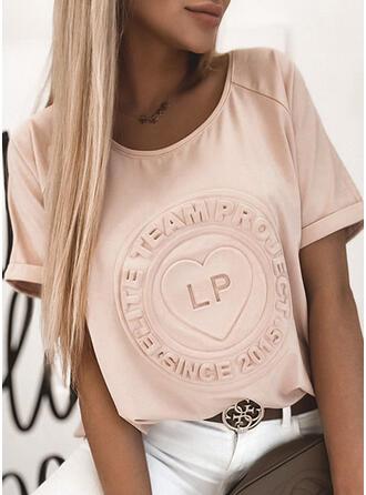Figura Serce Okrągły dekolt Krótkie rękawy T-shirty
