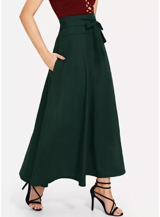 Bawełna Równina Maxi Spódnice A-Line