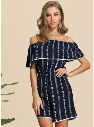 Print Short Sleeves Above Knee Casual Dresses