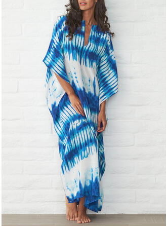 Splice color V-Neck Sexy Boho Cover-ups Swimsuits