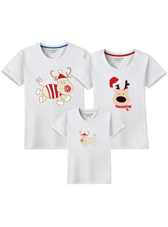 Deer Wydrukować Rodzinne Dopasowanie T-shirty