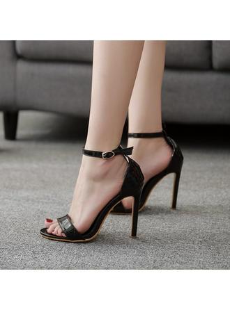 De mujer PU Tacón stilettos Sandalias Salón con Hebilla zapatos
