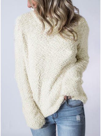 Plain Turtleneck Sweaters