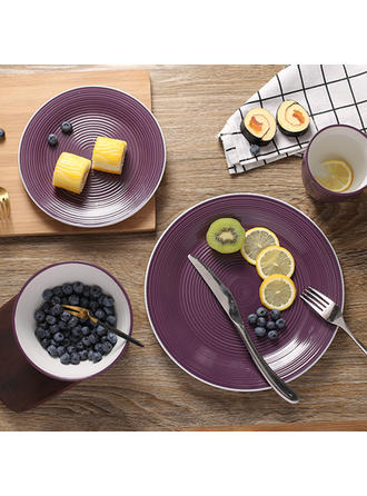 Casual Porcelain Dinnerware Sets (Set of 4)