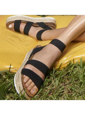Women's PU Flat Heel Sandals Peep Toe shoes