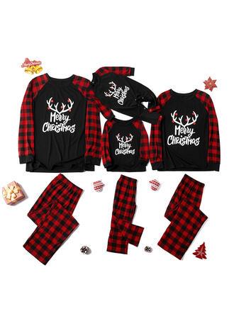Carta Impressão Família Combinando Natal Pijama