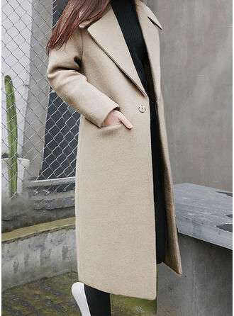 Long Sleeves Plain Coats