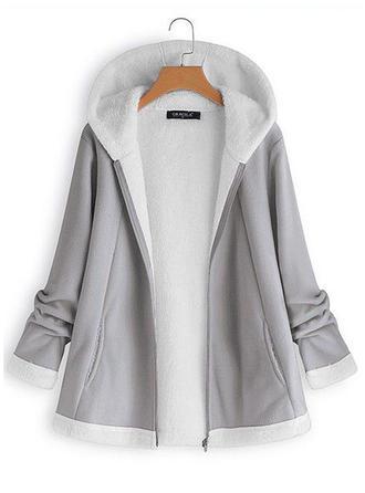Cotton Long Sleeves Plain Blend Coats