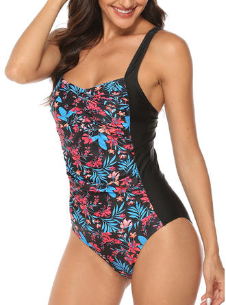 Floral Strap Bohemian One-piece Swimsuits