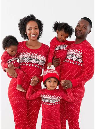 Wydrukować Dopasowywanie Rodzinne Dopasowanie Świąteczne piżamy