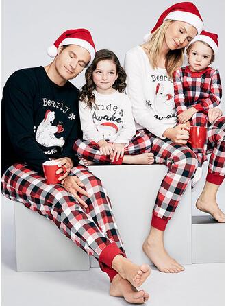 Plaid Print Matching Family Matching Pajamas