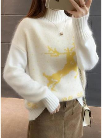 Animal Print Turtleneck Sweaters