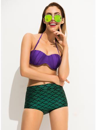 Taille Haute Dos Nu Sexy Bikinis Maillots De Bain