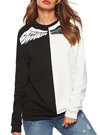 Cotton Blends Print Sweatshirt