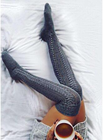 Colore solido traspirante/Confortevole/Da donna/Calza altezza ginocchio Calzini/calze autoreggenti