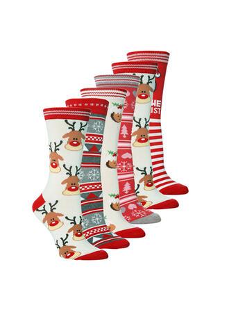 Christmas Reindeer Comfortable/Christmas/Crew Socks/Unisex Socks