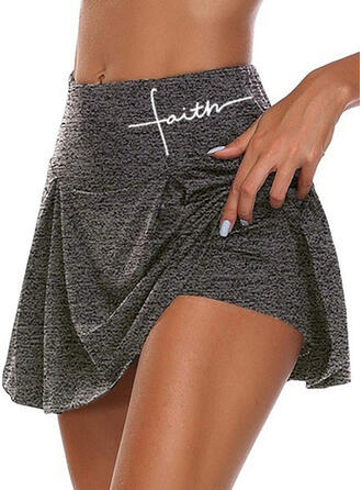 Print Plus Size Casual Sporty Shorts