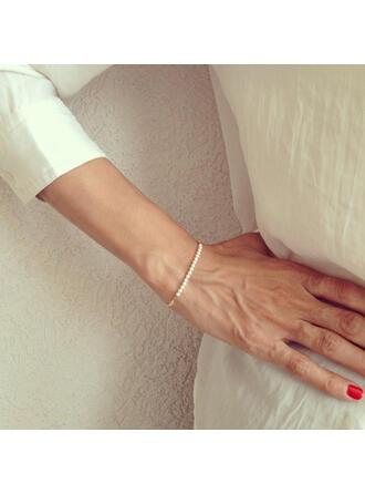 Alloy With Imitation Pearl Bracelets Beach Jewelry