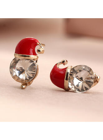 Shining Christmas Alloy With Rhinestones Earrings 2 PCS