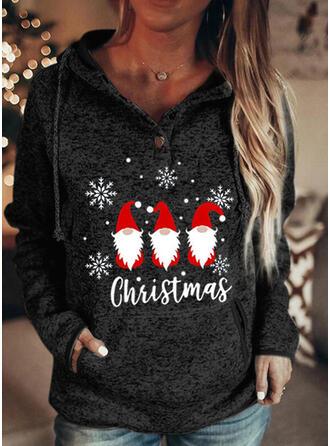 Nyomtatás Postava Dlouhé rukávy Vánoční mikina