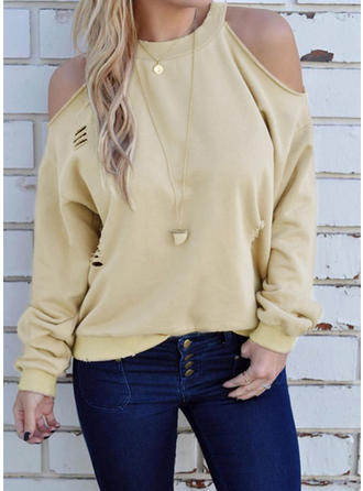 Cotton Polyester Plain Sweatshirt