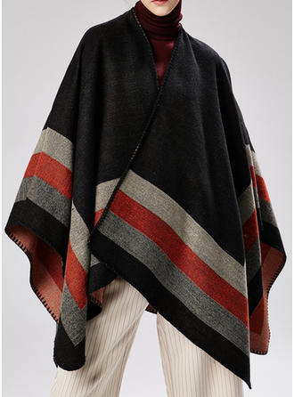 Stripet/Color Block Oversized/attraktiv Poncho