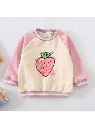 Bébé & Bambin Fille Imprimé Bande Dessinée Coton Sweat-Shirt