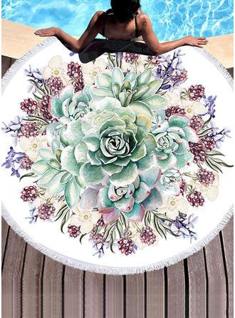 Floral Énorme serviette de plage