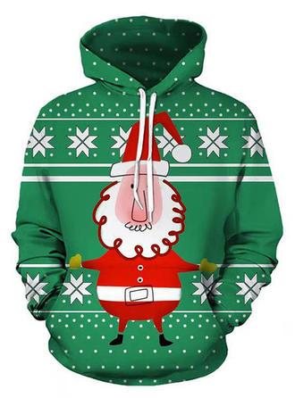 Poliéster Impressão Mulheres Camisola de Natal