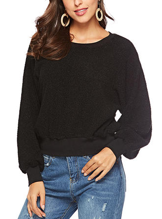 Spandex Polyester Plain Sweatshirt