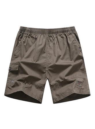 De Los Hombres Color sólido Pantalones cortos