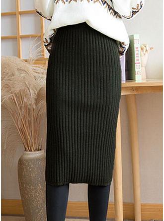 Robienie na drutach Równina Do Połowy Łydki Bodybox Spódnice
