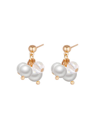 Unique Alloy Imitation Pearls With Imitation Pearl Women's Fashion Earrings (Set of 2)