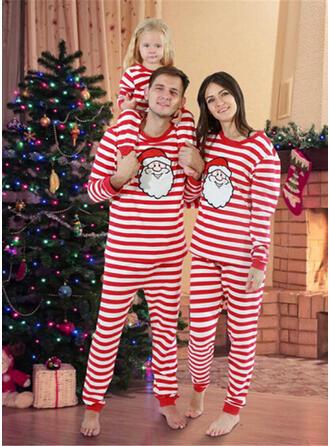 Święty Mikołaj W Paski Rodzinne Dopasowanie Świąteczne piżamy