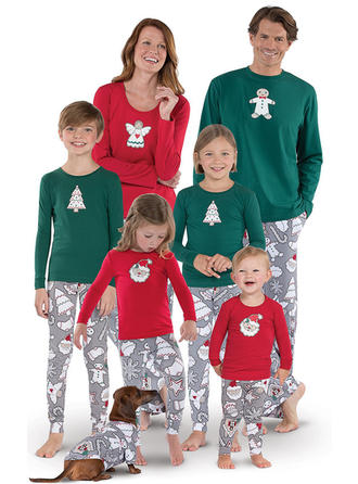 Santa Print Matching Family Christmas Pajamas