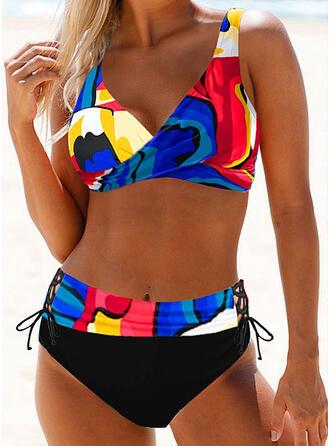 Print Riem Sexy Grote maat Boho Bikini's Badpakken