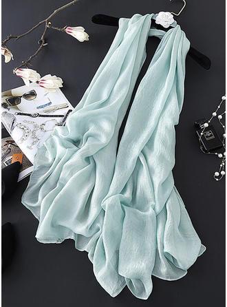 Color sólido Ligero/de gran tamaño Bufanda