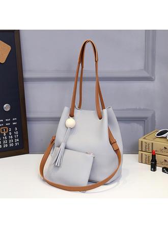 Pretty PU Shoulder Bags/Bag Sets/Wallets & Wristlets/Bucket Bags